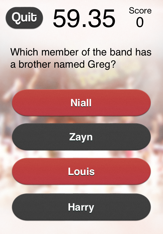 Screenshot #1 One Direction Fan – The 1D Fan Quiz